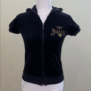 Juicy Couture love P&G terry cloth hood zip jacket